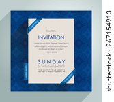 beautiful vector invitation... | Shutterstock .eps vector #267154913
