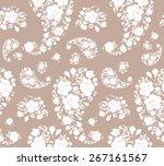 seamless pattern  white motifs... | Shutterstock . vector #267161567