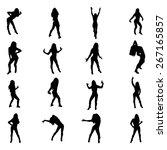 set of sexy dancer womnen... | Shutterstock .eps vector #267165857