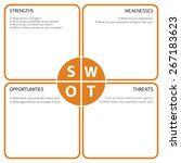 swot analysis table with main... | Shutterstock .eps vector #267183623