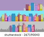 vector cityscape set | Shutterstock .eps vector #267190043