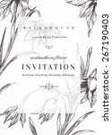 wedding invitation template... | Shutterstock .eps vector #267190403