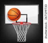 Realistic Basketball Backboard...