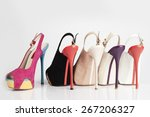 Multicolor High Heel Shoes On...
