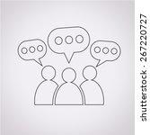 people speech bubble icon   Shutterstock .eps vector #267220727