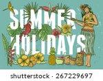 Summer Holidays Poster  Hand...