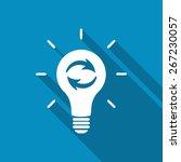 update light bulb. recycling... | Shutterstock .eps vector #267230057