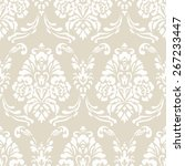 damask seamless vector pattern.... | Shutterstock .eps vector #267233447
