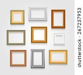 set of picture frames on white... | Shutterstock . vector #267237953