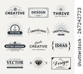 vintage vector design elements. ... | Shutterstock .eps vector #267242723