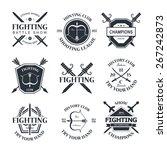 battle show vector logo emblem. ... | Shutterstock .eps vector #267242873