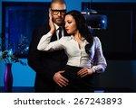 couple indoors. sensual... | Shutterstock . vector #267243893