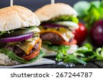 Homemade Burger With Vegetable...