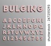 realistic 3d font  vector | Shutterstock .eps vector #267255293