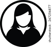 user icon vector female person... | Shutterstock .eps vector #267256877