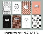 vintage creative cards. hipster ... | Shutterstock .eps vector #267264113