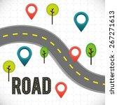 road design over white... | Shutterstock .eps vector #267271613