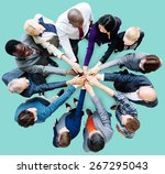 business people cooperation... | Shutterstock . vector #267295043
