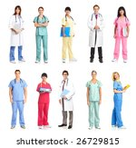 smiling medical people with... | Shutterstock . vector #26729815