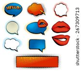 set of comic sppech bubbles and ... | Shutterstock .eps vector #267309713