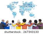 customer satisfaction... | Shutterstock . vector #267343133