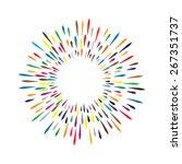 vector watercolor wreath with... | Shutterstock .eps vector #267351737