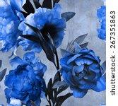 art vintage monochrome... | Shutterstock . vector #267351863