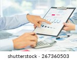 accounting  concept  annual. | Shutterstock . vector #267360503
