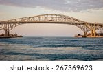 the twin spans of the blue... | Shutterstock . vector #267369623