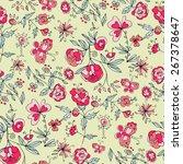 cheerful flower texture.... | Shutterstock .eps vector #267378647