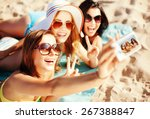 summer holidays  vacation and... | Shutterstock . vector #267388847