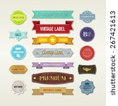 vintage elements set | Shutterstock .eps vector #267421613