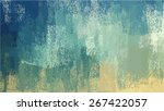 blue chalk brush strokes... | Shutterstock .eps vector #267422057