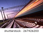 High Speed Passenger Train On...
