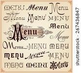 menu vintage retro style