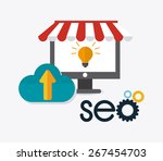 seo design over white... | Shutterstock .eps vector #267454703