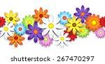 3d colorful daisy seamless...
