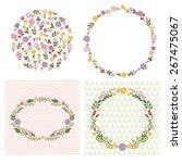 set of floral frames | Shutterstock .eps vector #267475067
