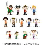 set of cute pirates | Shutterstock .eps vector #267497417