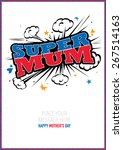 happy mother's day typographic... | Shutterstock .eps vector #267514163