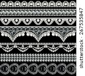 illustration set with lace... | Shutterstock .eps vector #267535847