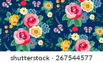 seamless floral pattern for... | Shutterstock .eps vector #267544577