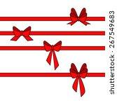 red gift ribbon. vector... | Shutterstock .eps vector #267549683