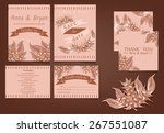 set of wedding invitation cards | Shutterstock .eps vector #267551087