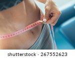 woman losing weight | Shutterstock . vector #267552623