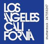 los angeles sport typography  t ... | Shutterstock .eps vector #267553247