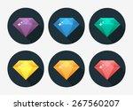 diamond vector illustration in... | Shutterstock .eps vector #267560207