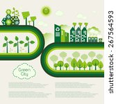 green eco city living concept. | Shutterstock .eps vector #267564593