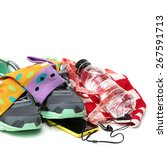 sport shoes and gym accessories.... | Shutterstock . vector #267591713