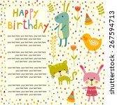 colorful baby shower background ...   Shutterstock .eps vector #267594713
